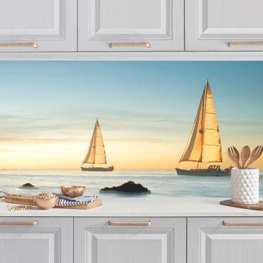 Rivestimento cucina - Barche A Vela In Oceano