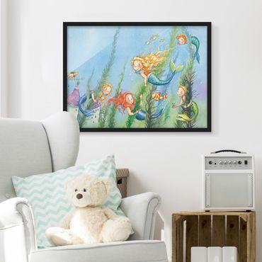 Poster con cornice - Matilda The Mermaid Princess - Orizzontale 3:4