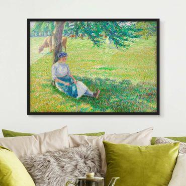 Poster con cornice - Camille Pissarro - Cowherd - Orizzontale 3:4