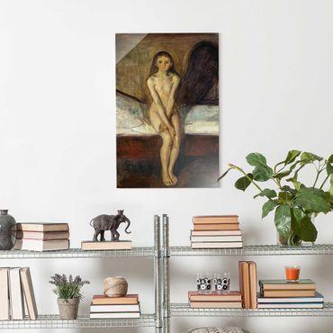 Quadro in vetro - Edvard Munch - Pubertà - Verticale 3:2