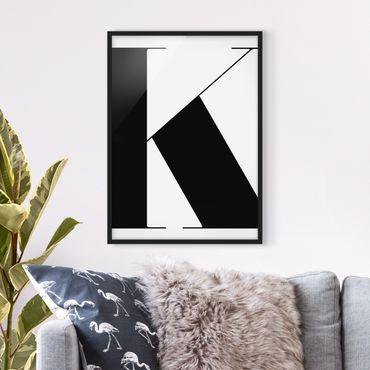 Poster con cornice - Antiqua Letter K - Verticale 4:3
