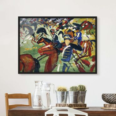 Poster con cornice - August Macke - Hussars On The Move - Orizzontale 3:4