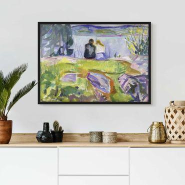 Poster con cornice - Edvard Munch - Spring - Orizzontale 3:4