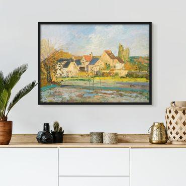 Poster con cornice - Camille Pissarro - Countryside At Pontoise - Orizzontale 3:4
