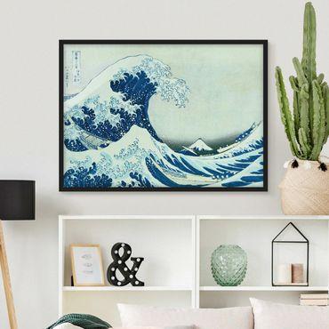 Poster con cornice - Katsushika Hokusai - La grande onda a Kanagawa - Orizzontale 3:4