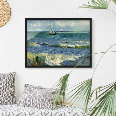 Poster con cornice - Vincent Van Gogh - Seascape - Orizzontale 3:4
