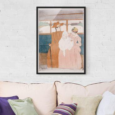 Poster con cornice - Mary Cassatt - In The Omnibus - Verticale 4:3
