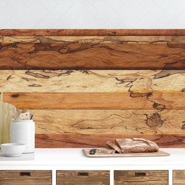Rivestimento cucina - Effetto legno Flamed