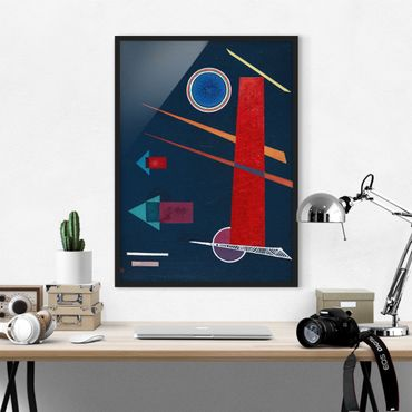 Poster con cornice - Wassily Kandinsky - Powerful Red - Verticale 4:3