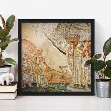 Poster con cornice - Galileo Chini - Decoration Of Berzieri Detail 5 - Quadrato 1:1