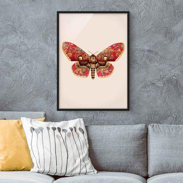 Poster con cornice - Vintage Moth - Verticale 4:3
