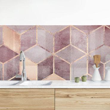 Rivestimenti cucina - Rosa d'Oro Grigio Geometria