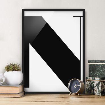 Poster con cornice - Antiqua Letter N - Verticale 4:3