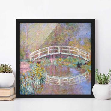 Poster con cornice - Claude Monet - Bridge Monet'S Garden - Quadrato 1:1