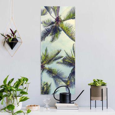 Quadro in vetro - Le palme