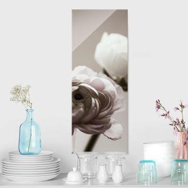 Quadro in vetro - Focus su fioritura scura