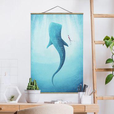 Foto su tessuto da parete con bastone - Lo squalo balena - Verticale 3:2