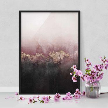 Poster con cornice - Alba Dorata Rosa - Verticale 4:3