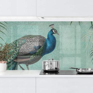 Rivestimento cucina - Shabby Chic Collage - Pavone vanitoso