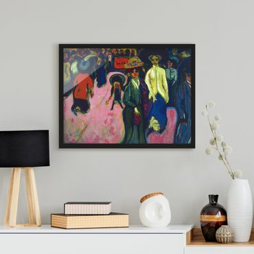 Poster con cornice - Ernst Ludwig Kirchner - Street In Dresden - Orizzontale 3:4