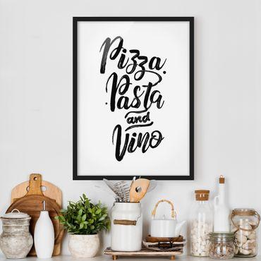 Poster con cornice - Pizza Pasta And Vino - Verticale 4:3