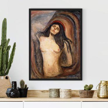 Poster con cornice - Edvard Munch - Madonna - Verticale 4:3