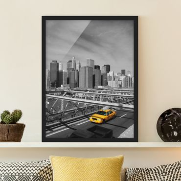 Poster con cornice - Taxi Trip To The Other Side - Verticale 4:3