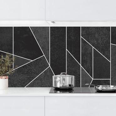 Rivestimenti cucina - Bianco e Nero geometrico Acquarello