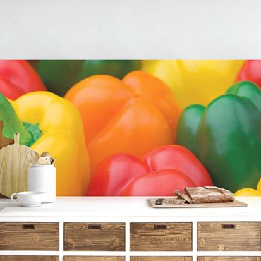 Rivestimento cucina - Colorful Peperoni