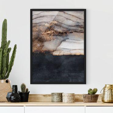 Poster con cornice - Oro Marmo Painted - Verticale 4:3