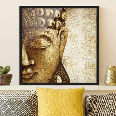 Poster con cornice - Vintage Buddha - Quadrato 1:1