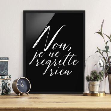 Poster con cornice - Non, Je Ne Regrette Rien - Verticale 4:3