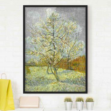 Poster con cornice - Vincent Van Gogh - Flowering Peach Tree - Verticale 4:3