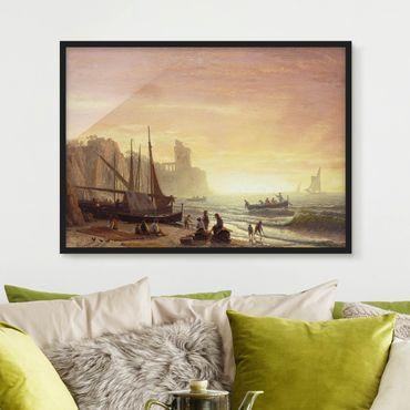 Poster con cornice - Albert Bierstadt - Fishing Fleet - Orizzontale 3:4