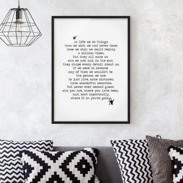 Poster con cornice - Clear - Verticale 4:3