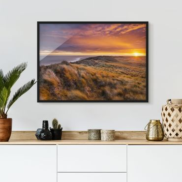 Poster con cornice - Sunrise On The Beach On Sylt - Orizzontale 3:4
