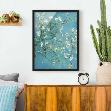 Poster con cornice - Vincent Van Gogh - Almond Blossoms - Verticale 4:3