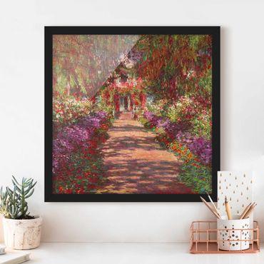 Poster con cornice - Claude Monet - Percorso nel giardino di Monet Giverny A - Quadrato 1:1