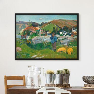 Poster con cornice - Paul Gauguin - The Swineherd - Orizzontale 3:4