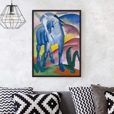 Poster con cornice - Franz Marc - Blue Horse I - Verticale 4:3