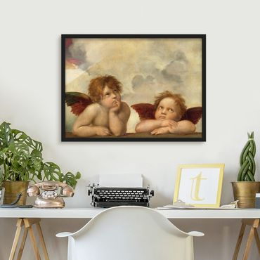 Poster con cornice - Raphael - Two Angels - Orizzontale 3:4