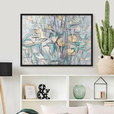 Poster con cornice - Piet Mondrian - Composition X - Orizzontale 3:4