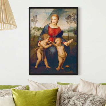 Poster con cornice - Raffael - Madonna Of The Goldfinch - Verticale 4:3