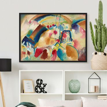 Poster con cornice - Wassily Kandinsky - Landscape With Church - Orizzontale 3:4