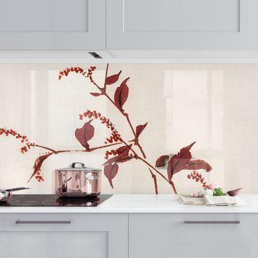 Rivestimento cucina - Asian Vintage Disegno Red Branch con libellula