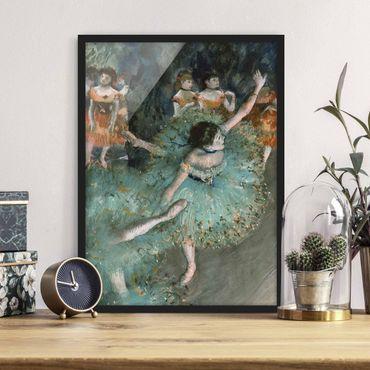 Poster con cornice - Edgar Degas - Dancers In Green - Verticale 4:3