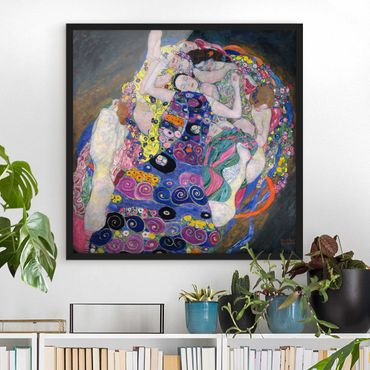 Poster con cornice - Gustav Klimt - The Virgin - Quadrato 1:1