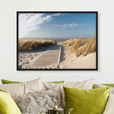 Poster con cornice - Baltic Sea Beach - Orizzontale 3:4