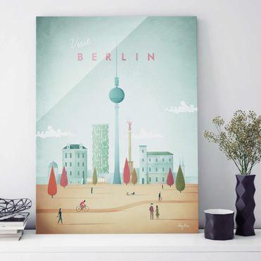 Quadro in vetro - Poster viaggio - Berlino - Verticale 4:3