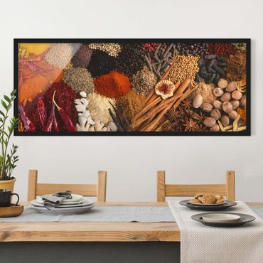 Poster con cornice - Spezie Esotiche - Panorama formato orizzontale